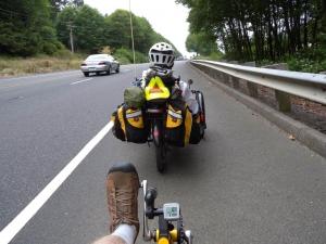 s triciklom v prometu / varnost