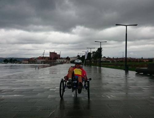 Kapist Nejc s triciklom čez Slovenijo