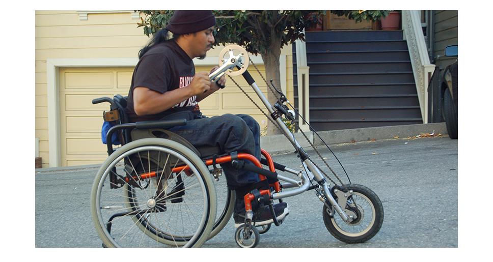 handbike-priklop-za-invalidski-vozicek