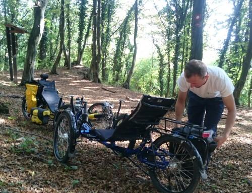 Ležeče triciklanje po Kalniških gozdovih