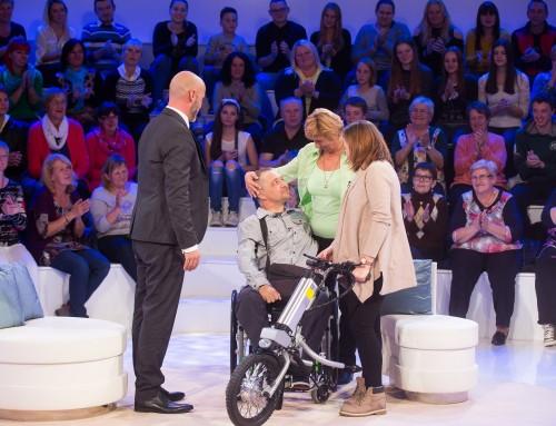 Električni priklop za invalidski voziček v oddaji Dan najlepših sanj